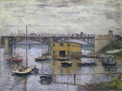 Bridge at Argenteuil on a Gray Day, c.1876-Claude Monet-Giclee Print