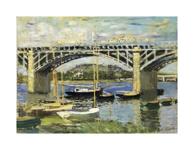 Bridge at Argenteuil-Claude Monet-Art Print