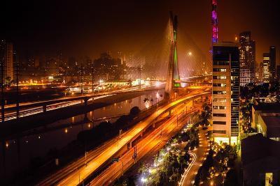 Bridge At Night In Sao Paulo-CelsoDiniz-Art Print