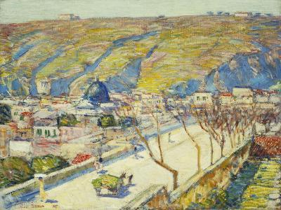 Bridge at Posilippo, Naples, 1889-Childe Hassam-Giclee Print