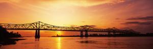 Bridge at Sunset, Natchez, Mississippi, USA