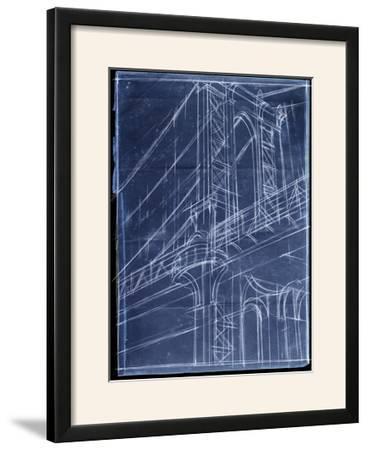 Bridge Blueprint I-Ethan Harper-Framed Photographic Print