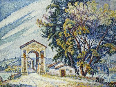 Bridge, Bourg-Saint-Andéol, 1926-Paul Signac-Giclee Print
