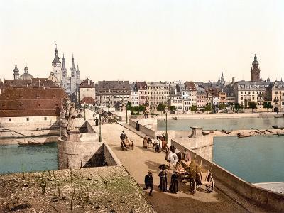 Bridge Crossing the Rhine to Wurzburg, Pub. C.1895--Photographic Print