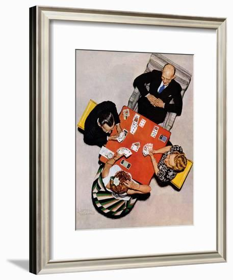 """Bridge Game"" or ""Playing Cards"", May 15,1948-Norman Rockwell-Framed Giclee Print"