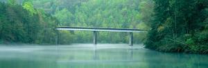 Bridge in Fog, Great Smokey Mountain National Park, North Carolina