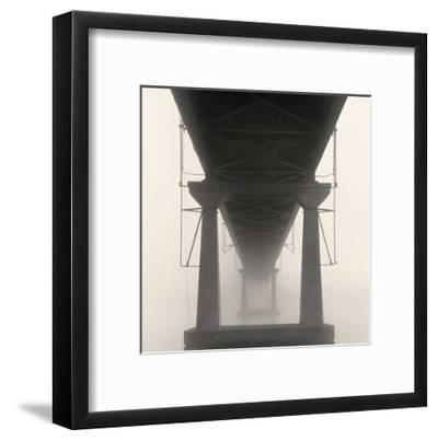 Bridge in Fog-Nicholas Bell-Framed Art Print
