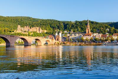 Bridge in Heidelberg, Germany-sborisov-Photographic Print