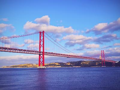 Bridge in Lisbon-Karol Kozlowski-Photographic Print