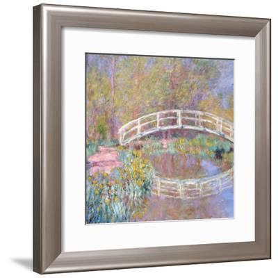 Bridge in Monet's Garden, 1895-96-Claude Monet-Framed Giclee Print