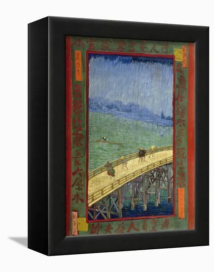 Bridge in the Rain (After Hiroshige)-Vincent van Gogh-Framed Premier Image Canvas