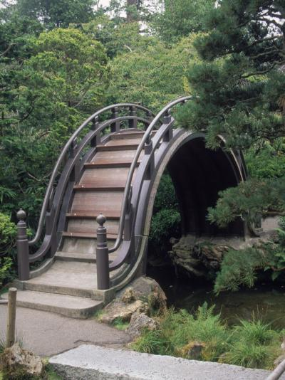 Bridge, Japanese Garden, Golden Gate Park, CA-Barry Winiker-Photographic Print