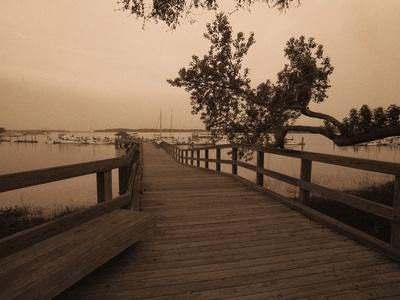 Bridge Leading to Pier-Guy Cali-Photographic Print