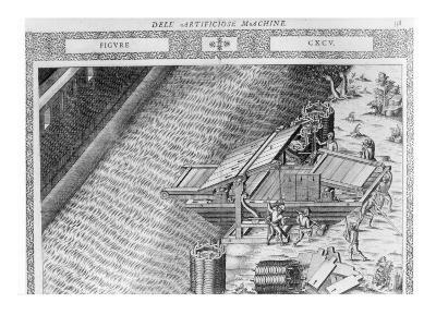 Bridge Made in Shape of Boat, Illustration from 'Diverse Imaginary Machines' by Agostino Ramelli-Agostino Ramelli-Giclee Print