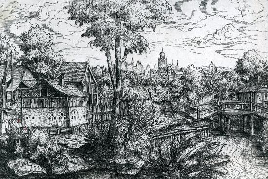 Bridge Near a Watermill, 1553-Hanns Sebald Lautensack-Giclee Print