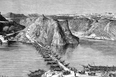 Bridge of Boats over the Indus at Khushalgarh, Pakistan, 1895--Giclee Print