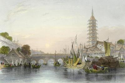 Bridge of Nanking-Thomas Allom-Art Print