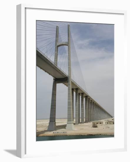 Bridge of Peace, Suez Canal, Egypt-Cindy Miller Hopkins-Framed Photographic Print