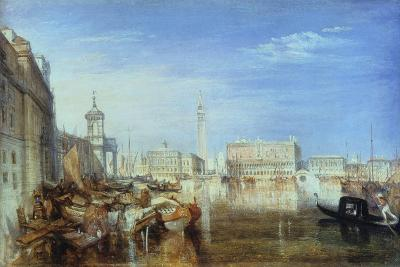 Bridge of Sighs, Ducal Palace and Custom-House, Venice: Canaletti Painting, 1833-J^ M^ W^ Turner-Giclee Print