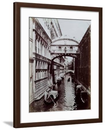 Bridge of Sighs, Venice, C.1870-Carlo Naya-Framed Giclee Print