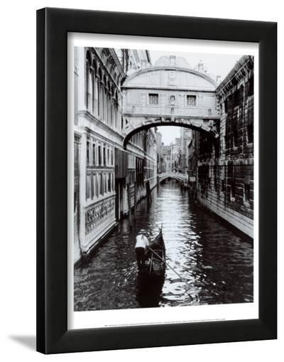 Bridge of Sighs, Venice-Cyndi Schick-Framed Art Print