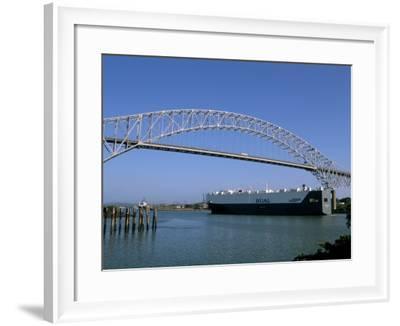 Bridge of the Americas, Panama Canal, Balboa, Panama, Central America-Sergio Pitamitz-Framed Photographic Print