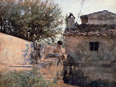 Bridge on the Affrico in Piagentina, 1863-1864-Telemaco Signorini-Giclee Print