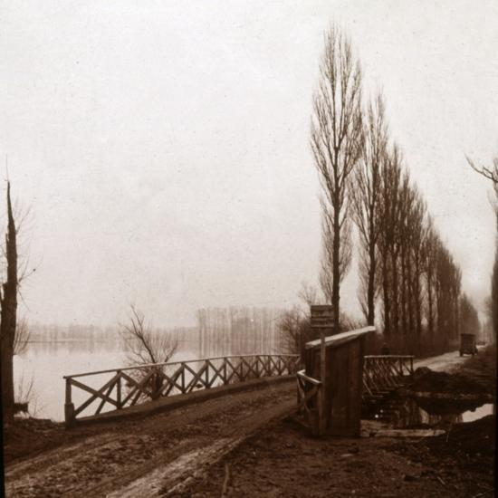 Bridge on the River Ailette, northern France, c1918-Unknown-Photographic Print