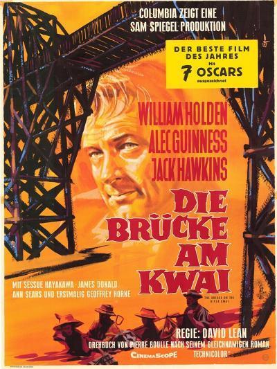 Bridge on the River Kwai, German Movie Poster, 1958--Art Print