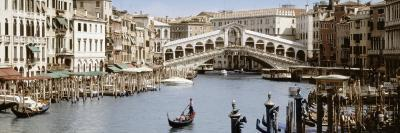 Bridge Over a Canal, Rialto Bridge, Venice, Veneto, Italy--Photographic Print