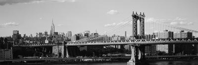 Bridge over a River, Manhattan Bridge, Manhattan, New York City, New York State, USA--Photographic Print