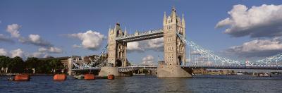 Bridge Over a River, Tower Bridge, Thames River, London, England, United Kingdom--Photographic Print
