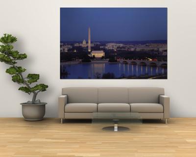 Bridge Over a River, Washington Monument, Washington DC, District of Columbia, USA