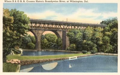 Bridge over Brandywine River, Wilmington, Delaware