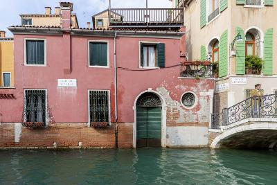 Bridge over Canal. Venice. Italy-Tom Norring-Photographic Print