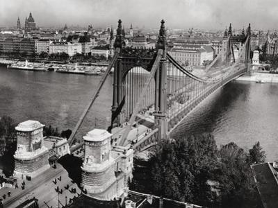 Bridge over Danube River of Budapest