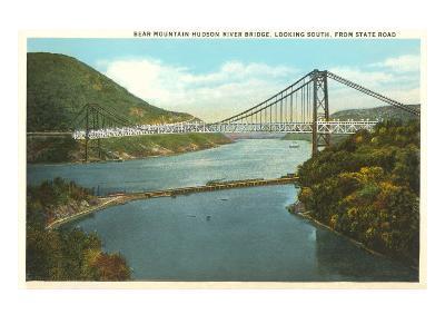 Bridge over Hudson River, New York--Art Print