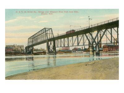 Bridge over Missouri, Omaha, Nebraska--Art Print