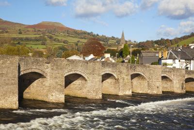 Bridge over River Usk, Crickhowell, Powys, Wales, United Kingdom, Europe-Billy Stock-Photographic Print
