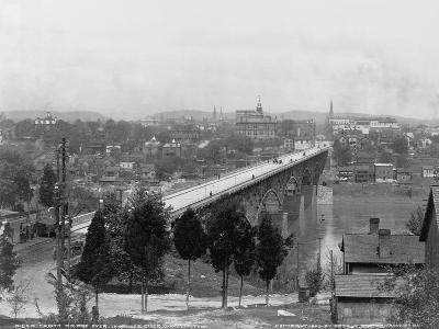 Bridge over Tennessee River in Knoxville--Photographic Print