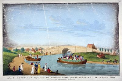 Bridge over the Grand Union Canal, Bayswater, London, 1801--Giclee Print