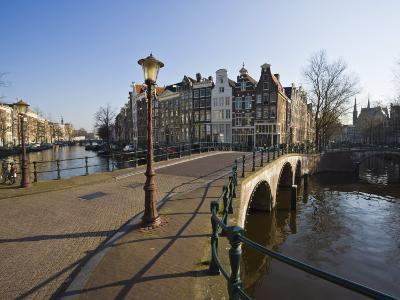Bridge over the Keizersgracht Canal, Amsterdam, Netherlands, Europe-Amanda Hall-Photographic Print