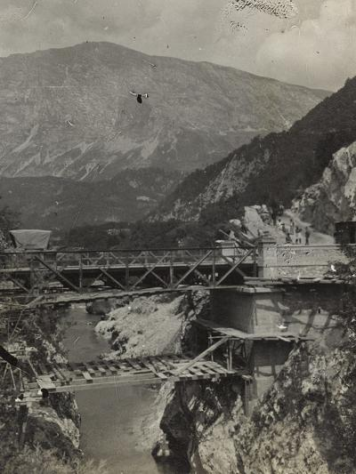 Bridge over the River Isonzo in Caporetto During the First World War-Luigi Verdi-Photographic Print