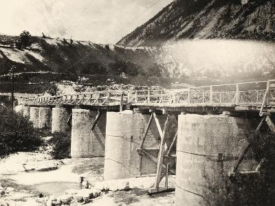 Bridge over the River Isonzo, Near Plezzo in Slovenia. the Structure Was Bombed During WWI-Ugo Ojetti-Photographic Print