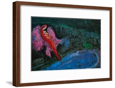 Bridge over the Seine-Marc Chagall-Framed Art Print