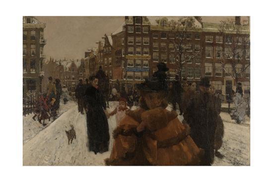 Bridge over the Singel at the Paleisstraat, Amsterdam, C. 1896-George Hendrik Breitner-Giclee Print