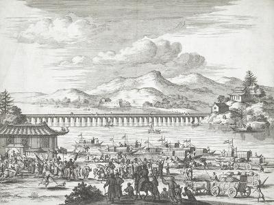 Bridge over the Yangtse River--Giclee Print
