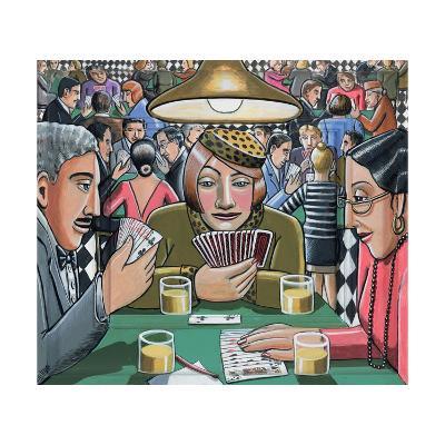 Bridge Players, 2009-P.J. Crook-Giclee Print