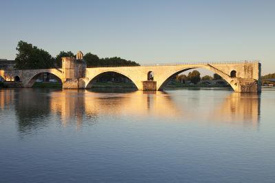 Bridge St. Benezet over Rhone River at Sunrise, France-Markus Lange-Photographic Print