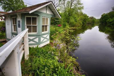 Bridge Tender House On The D&R Canal, New Jersey-George Oze-Photographic Print